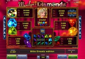 marilyn diamonds spielautomat online spiele